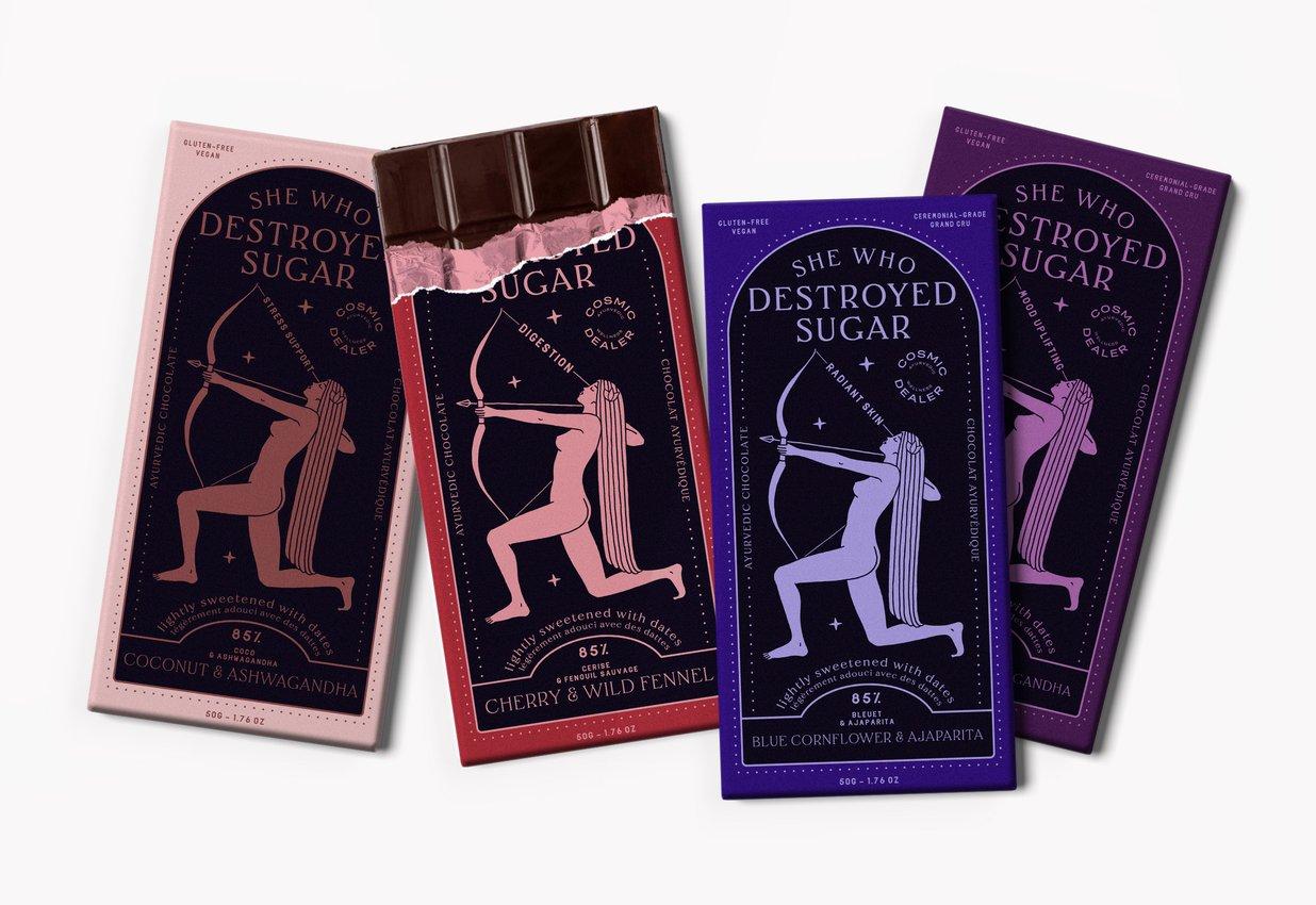COSMIC DEALER - Chocolat noir 85% de la fève à la tablette - 50 g